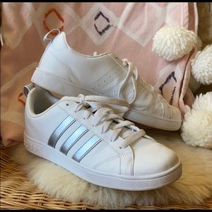 Adidas white and silver size 81/2